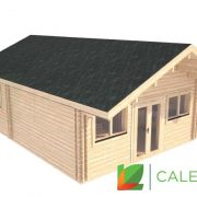 Musselburgh 44mm + 44mm Log Cabin (www.caledonialogcabins.co.uk) - 003